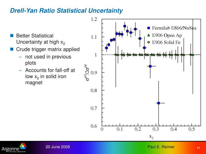 Drell-Yan Ratio Statistical Uncertainty