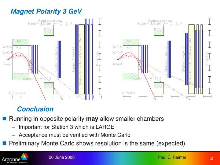 Magnet Polarity 3 GeV
