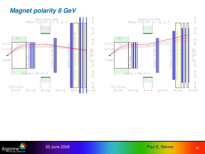 Magnet polarity 8 GeV