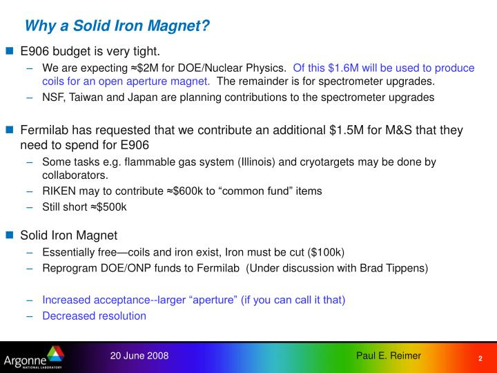 Why a Solid Iron Magnet?