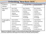 embedding new basic skills
