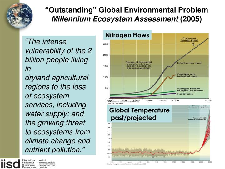 Outstanding global environmental problem millennium ecosystem assessment 2005