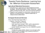 towards prairie resilience learning from the millenium ecosystem assessment
