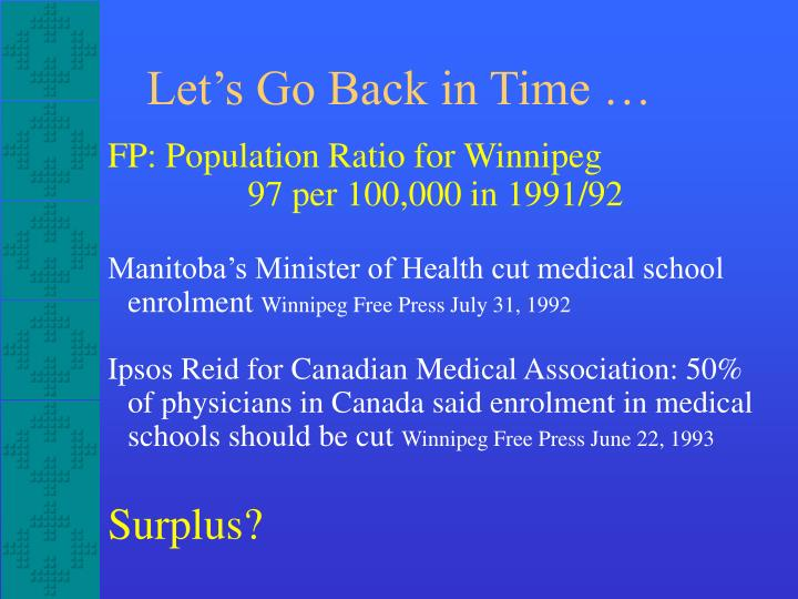 FP: Population Ratio for Winnipeg