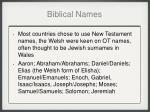 biblical names