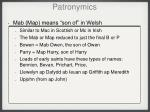 patronymics