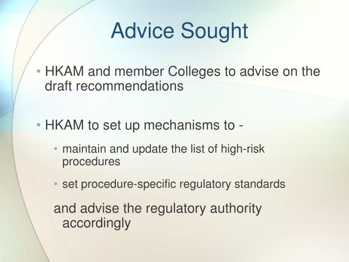 Advice Sought