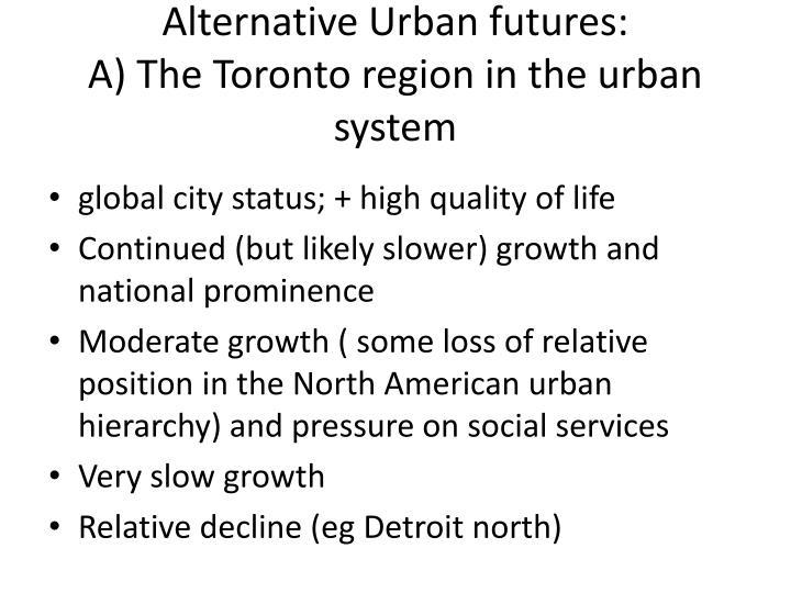 Alternative Urban futures: