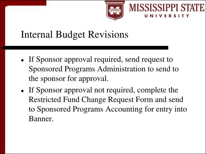 Internal Budget Revisions