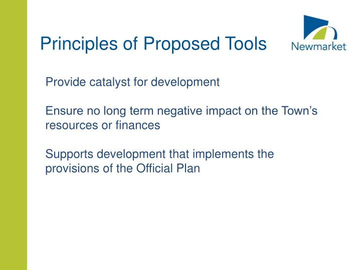 Principles of Proposed Tools