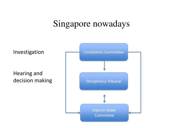 Singapore nowadays