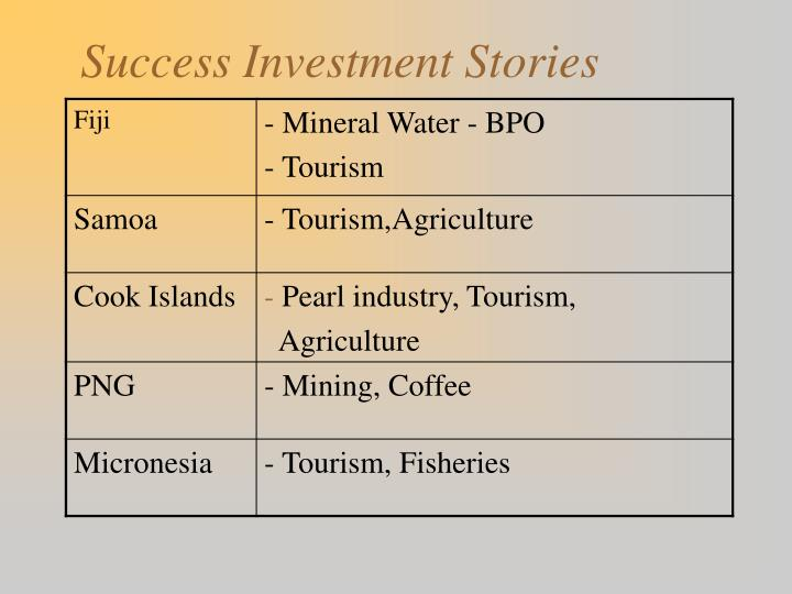 Success Investment Stories