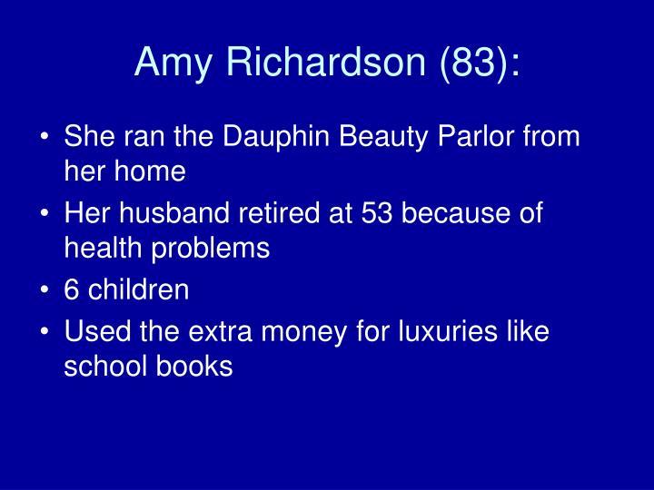 Amy Richardson (83):