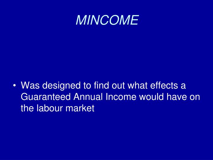 MINCOME