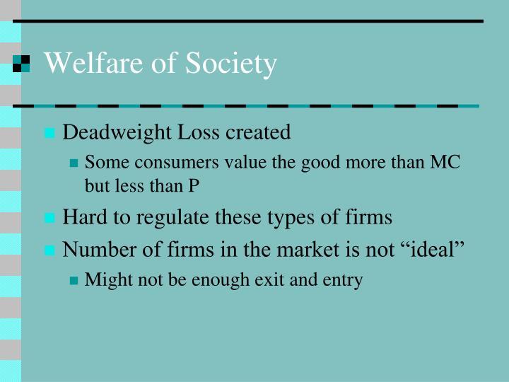 Welfare of Society