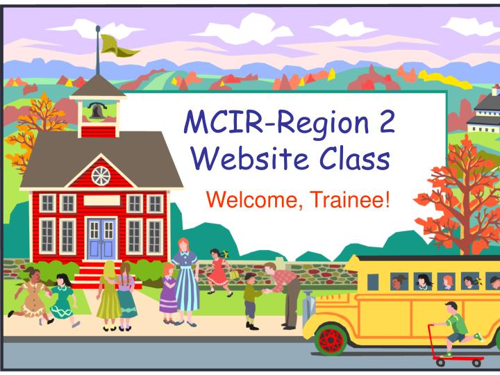 Mcir region 2 website class