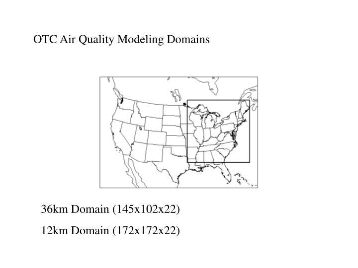 OTC Air Quality Modeling Domains