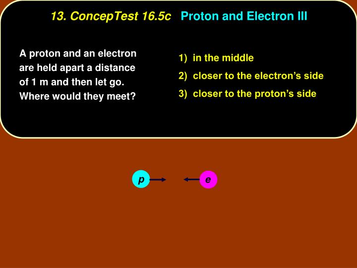 13 conceptest 16 5c proton and electron iii