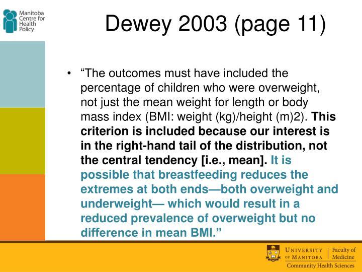 Dewey 2003 (page 11)