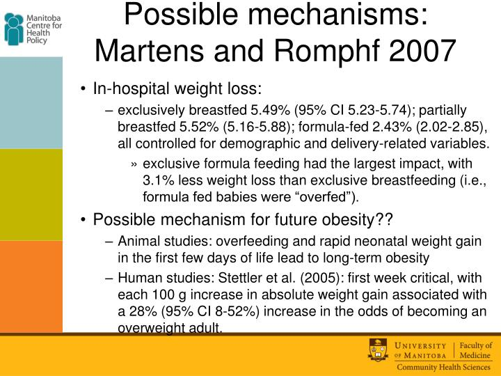 Possible mechanisms: Martens and Romphf 2007