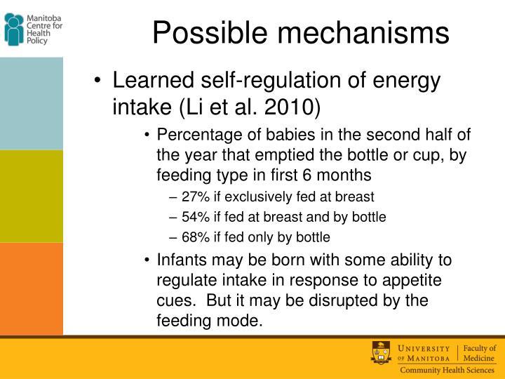Possible mechanisms