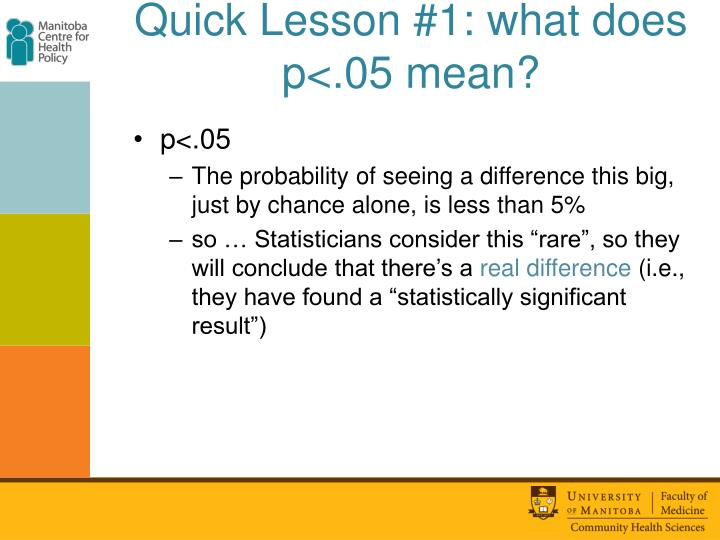 Quick Lesson #1: what does p<.05 mean?