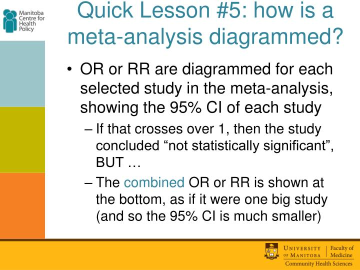 Quick Lesson #5: how is a meta-analysis diagrammed?