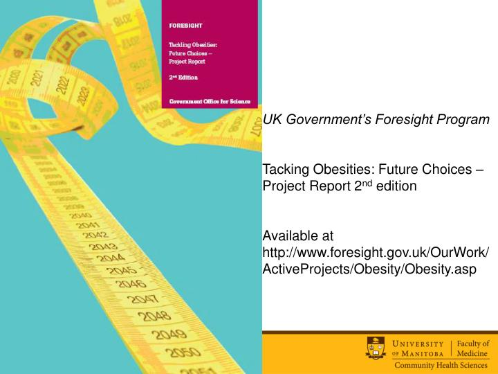 UK Government's Foresight Program