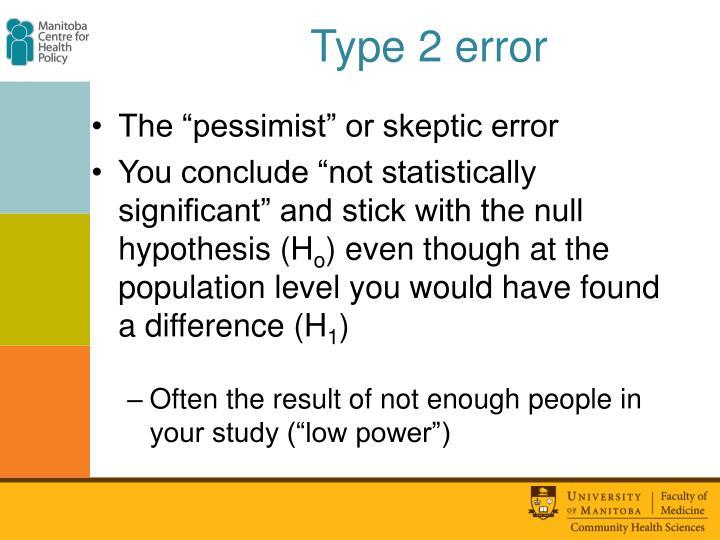 Type 2 error