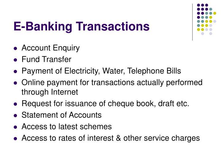 E-Banking Transactions