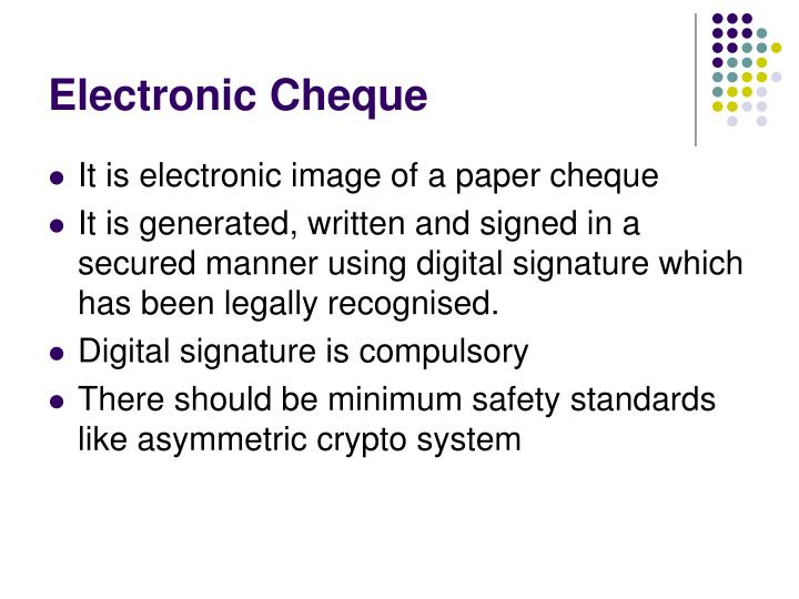 Electronic Cheque
