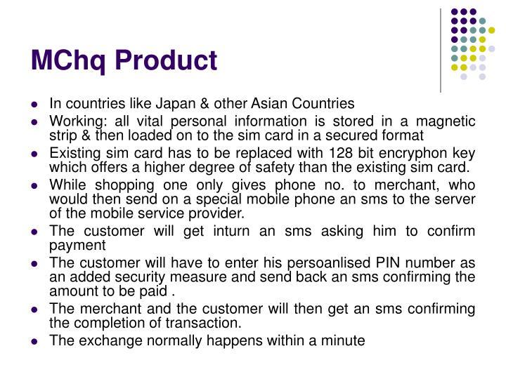 MChq Product