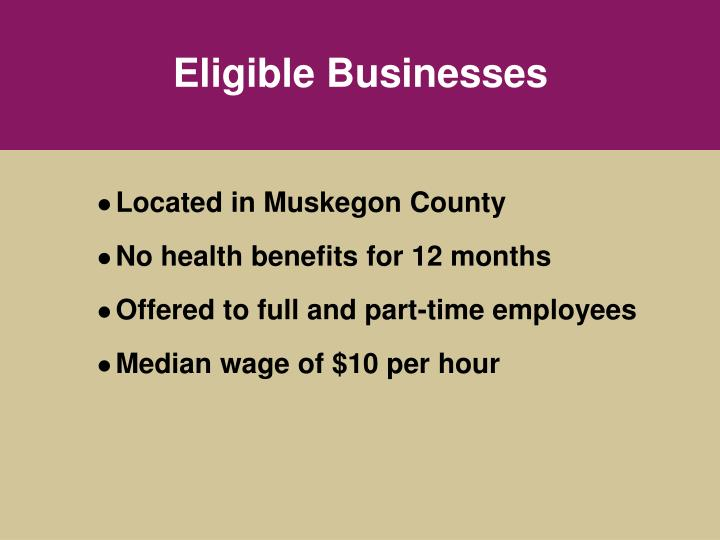 Eligible Businesses