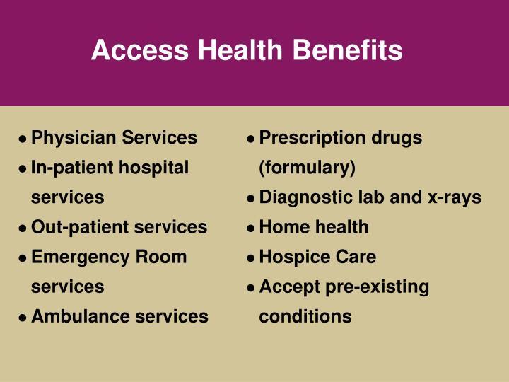 Access Health Benefits