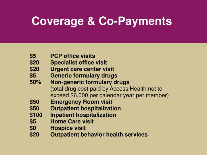 Coverage & Co-Payments