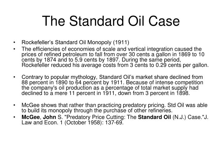 The Standard Oil Case