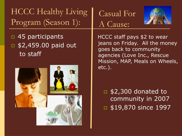 HCCC Healthy Living