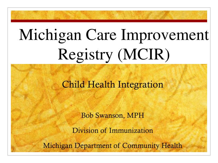 Child Health Integration
