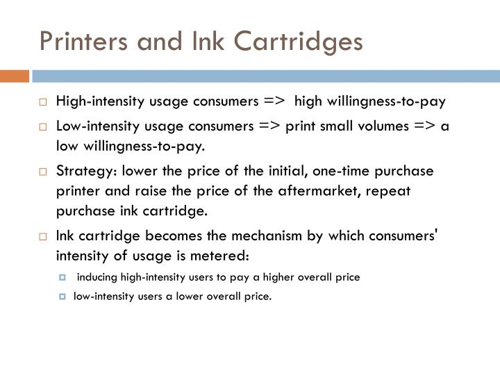 Printers and Ink Cartridges