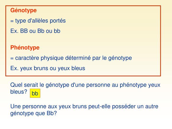Génotype