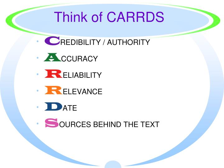 Think of CARRDS