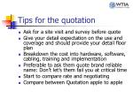 tips for the quotation