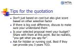 tips for the quotation1