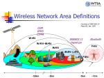 wireless network area definitions