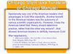 chicago style aka turabian or chicago manual1
