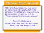 chicago style continued