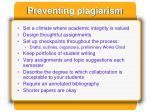 preventing plagiarism