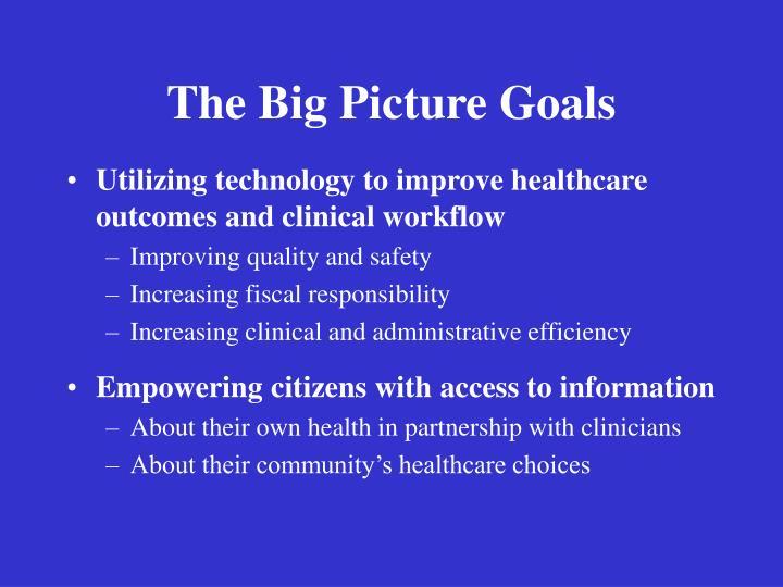 The Big Picture Goals
