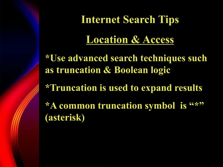 Internet Search Tips