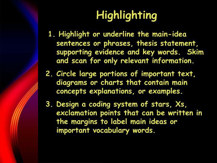 Highlighting